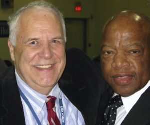 Journalist Bob Ingle and civil rights icon and Congressman John Lewis.